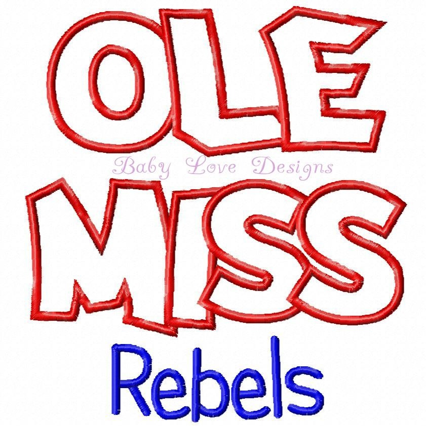 Ole Miss Embroidery Design - Instant Download - FOR MY FRIEND
