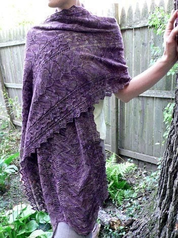 PATTERN Autumn Arbor Stole Knit Pattern by FearlessFibers on Etsy