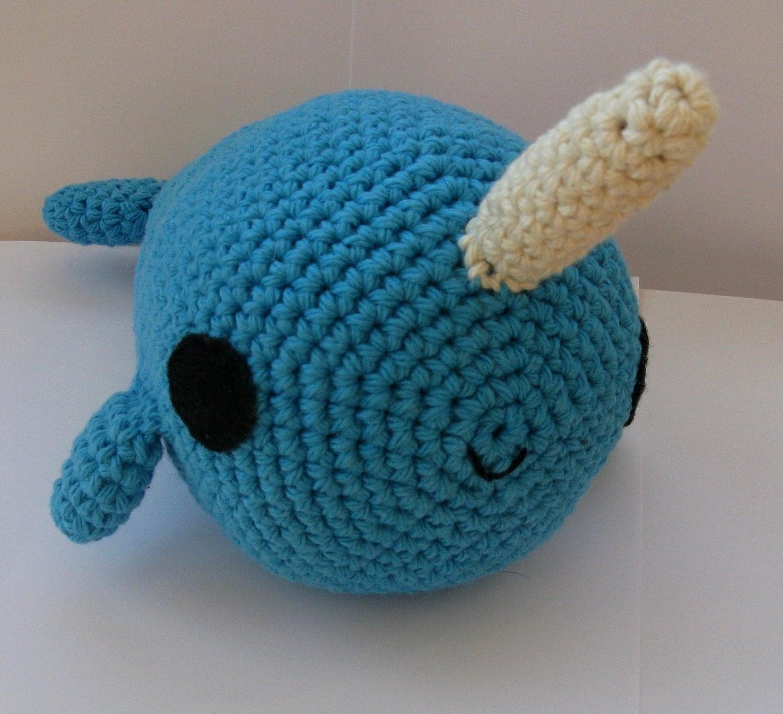Crochet Amigurumi Narwhal : Big Amigurumi Narwhal crochet pattern by anapaulaoli on Etsy