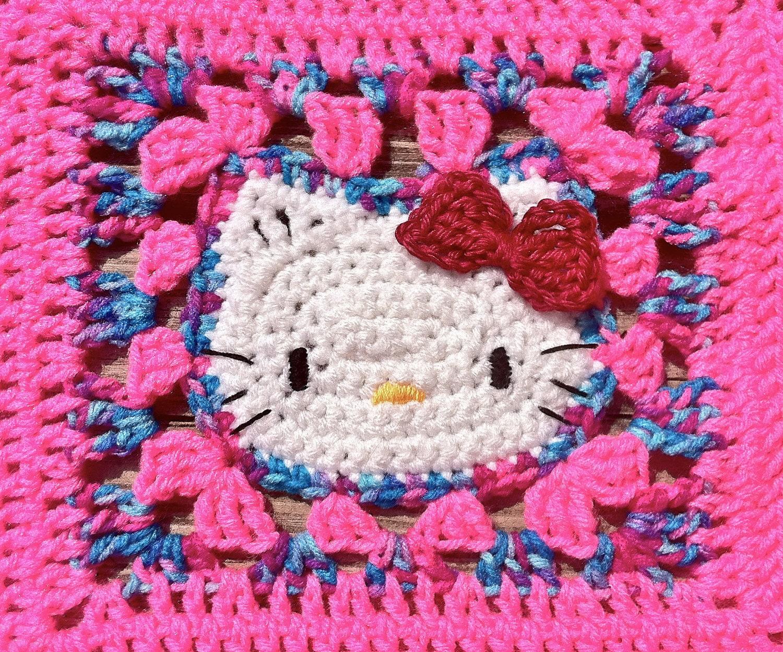 Crochet Pattern For Hello Kitty Baby Blanket : Items similar to Crochet Hello Kitty Blanket - Pink/Cotton ...