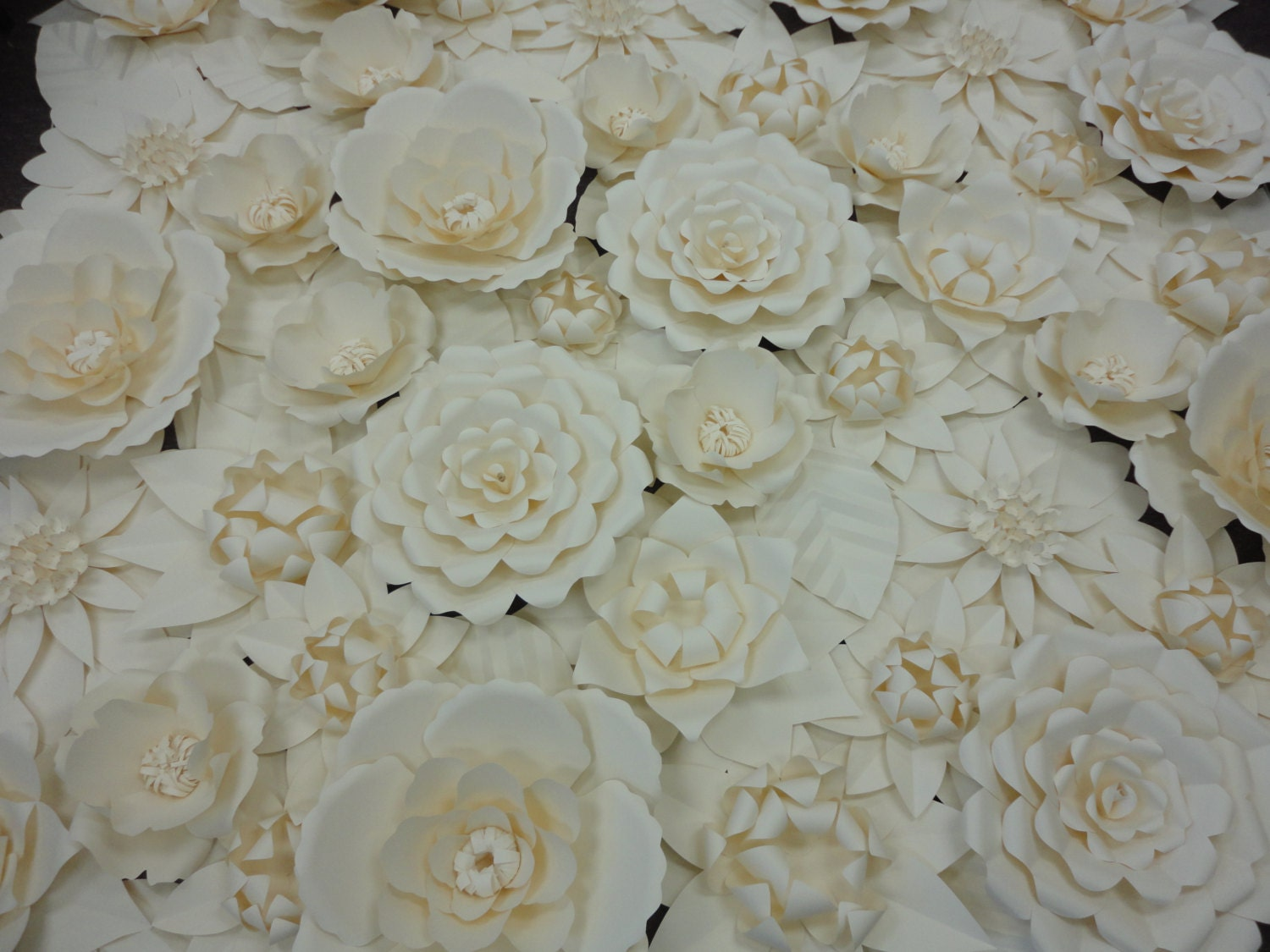 white paper flower wall 8ft x 8ft extra large by poshstudios