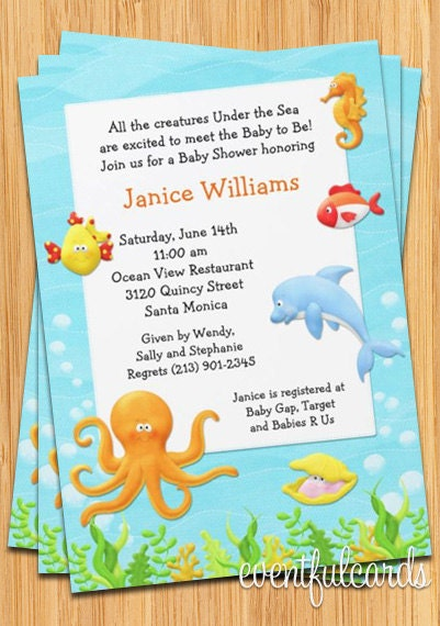 fish themed baby shower invitations is great invitations sample