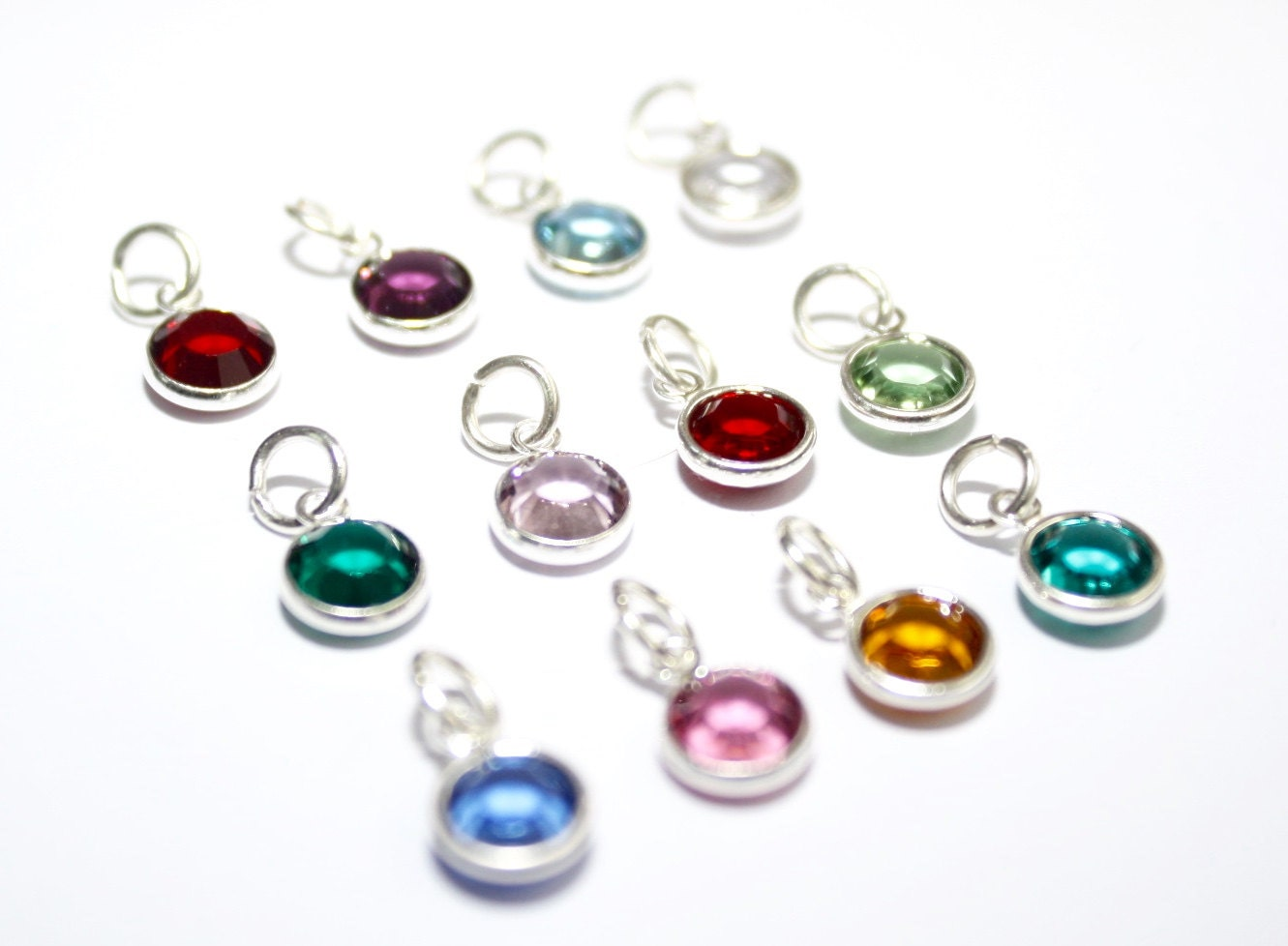 Birthstone Charms Add On Charms Personalise Your Jewellery Add On Birthstone Crystal Add on Birthstone Charms
