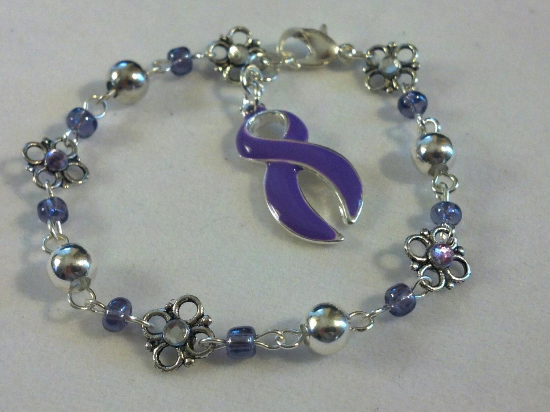 items similar to lupus awareness bracelet purple bracelet
