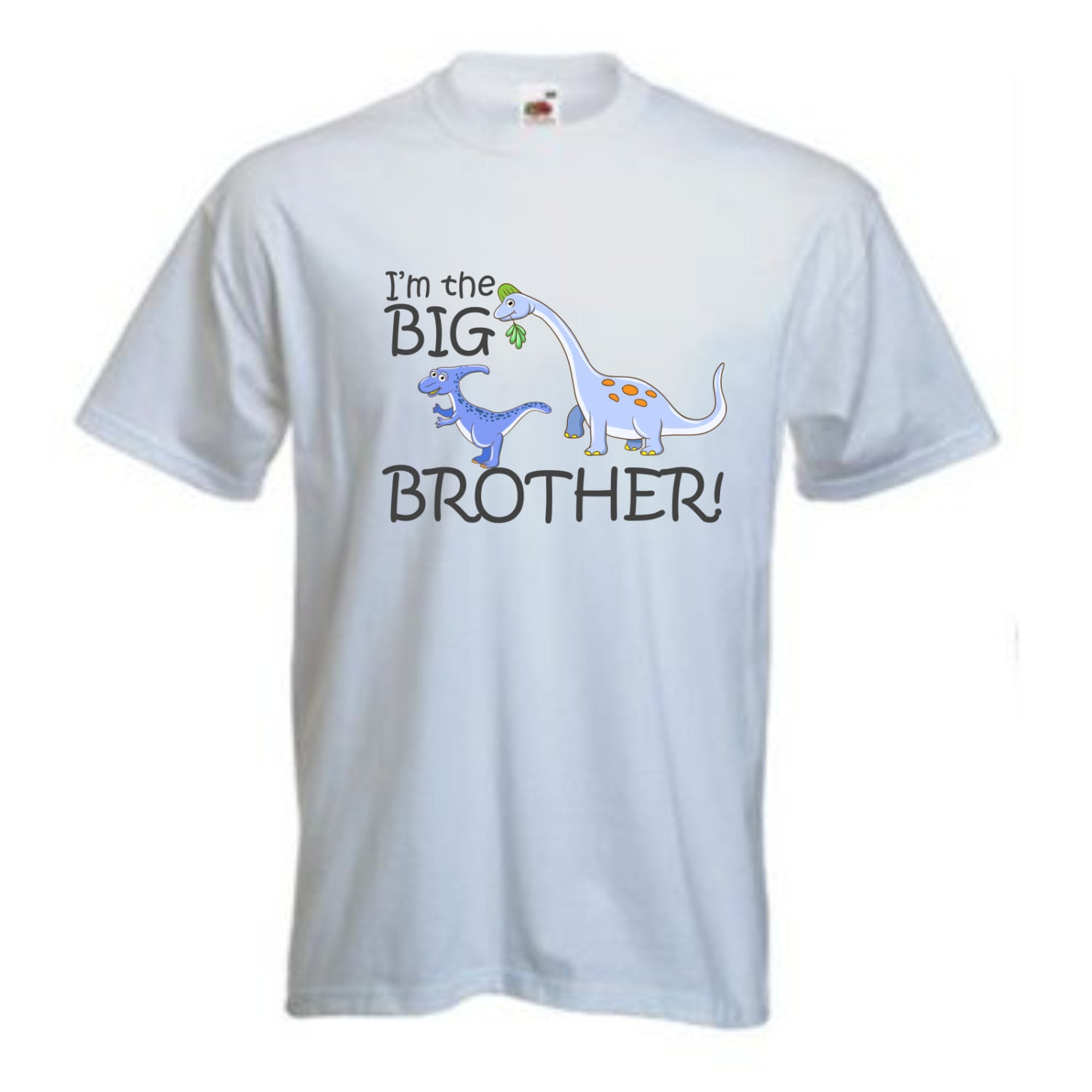 Personalised childrens t shirt Im the Big Brother Dinosaur Design