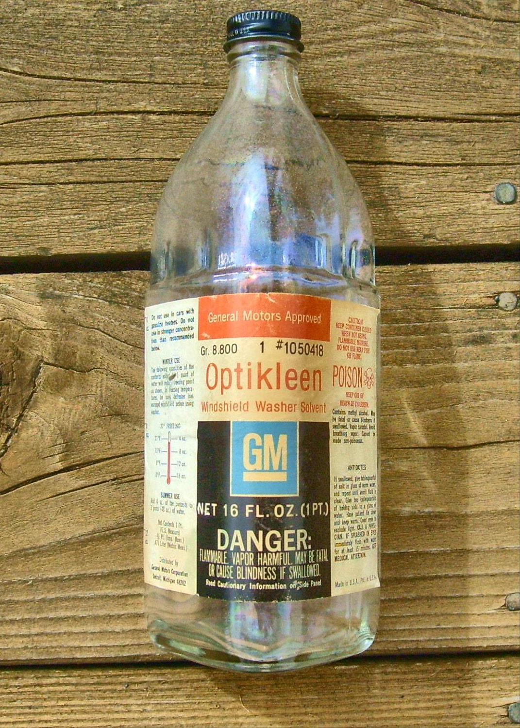 Collectable Gm Classic Auto Parts Optikleen By