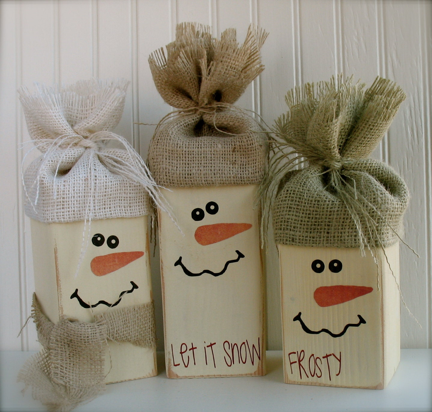 Large Snowman Trio... Perfect for Happy Holiday Decor.  Get yours to add to your decor today