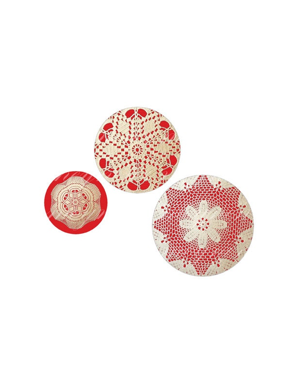 INSTANT DOWNLOAD- Lace Doily II -  Printable 1 inch round for jewelry, magnet, bottle cap, keychain- Jpg File no. A149 - meynenz