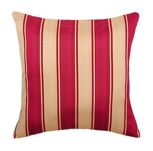 Gold Stripe Decorative Pillow : Red and Gold Striped Throw Pillow SMC by LandofPillowsDotCom