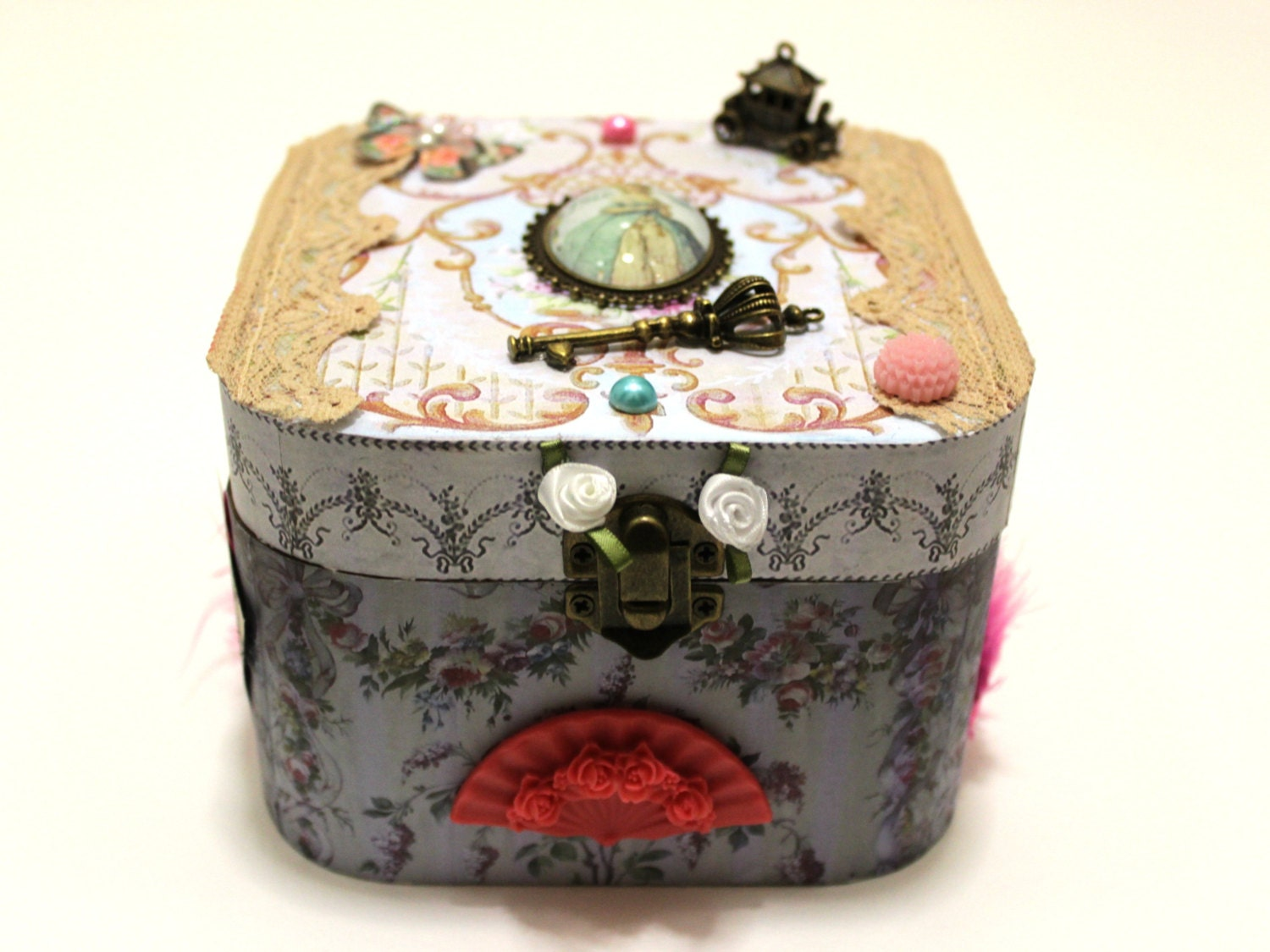 Marie Antoinette Trinket Box Jewelry Box - Bellecardsandgifts