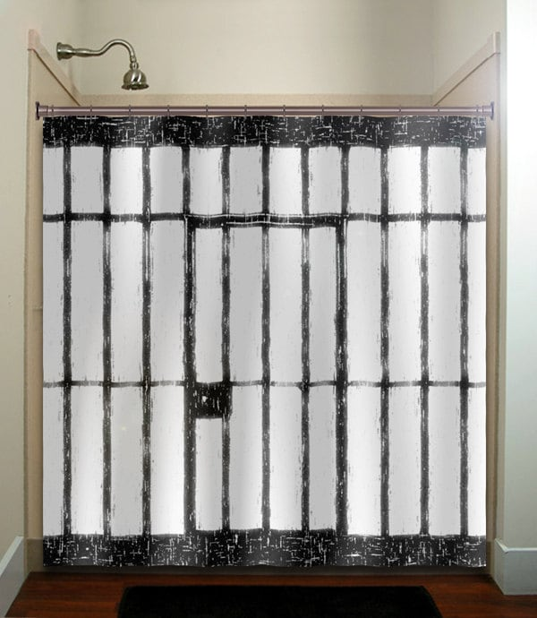 Jail Prison Cell Funny Shower Curtain Bathroom By Tablishedworks