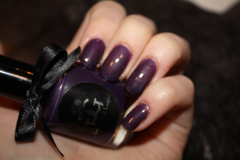 Anything Could Happen... - Metallic Purple Nail Polish - Full Size - Handmade