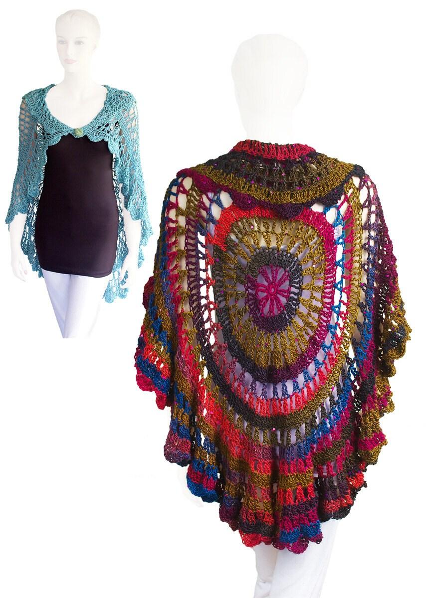 Crochet Pattern Babette Circular Shawl PDF