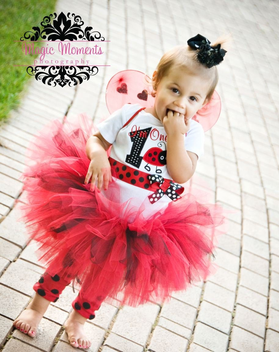 foto de Items similar to Ladybug First Birthday Girl Outfit I'm