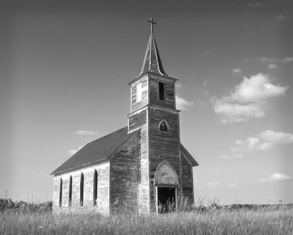 Abandoned Church - Country Church - Nebraska Photo - Nebraska Art - NebraskaSky
