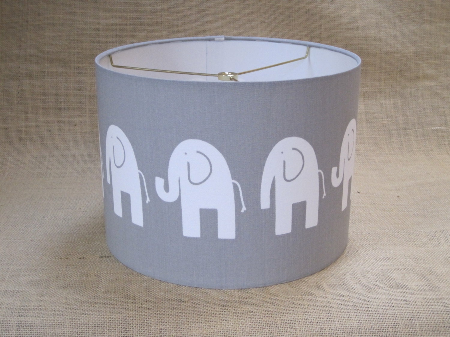 Lamp Shade Elephant Drum Lampshade In Gray By Sweetdreamshades