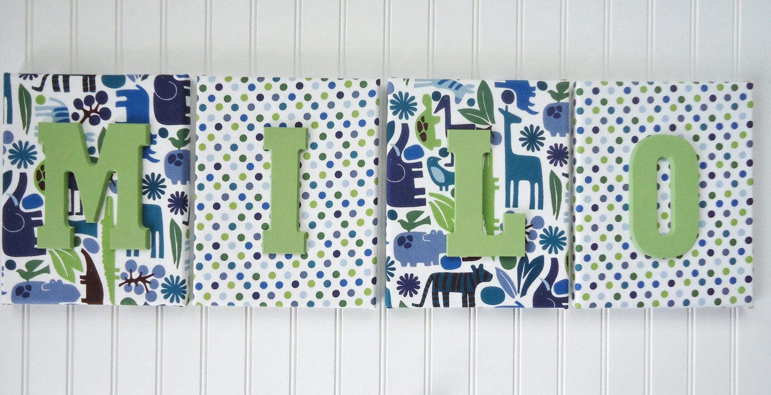 Wall decor letters for nursery : Wall letters nursery decor upholstered by fabbdesigns