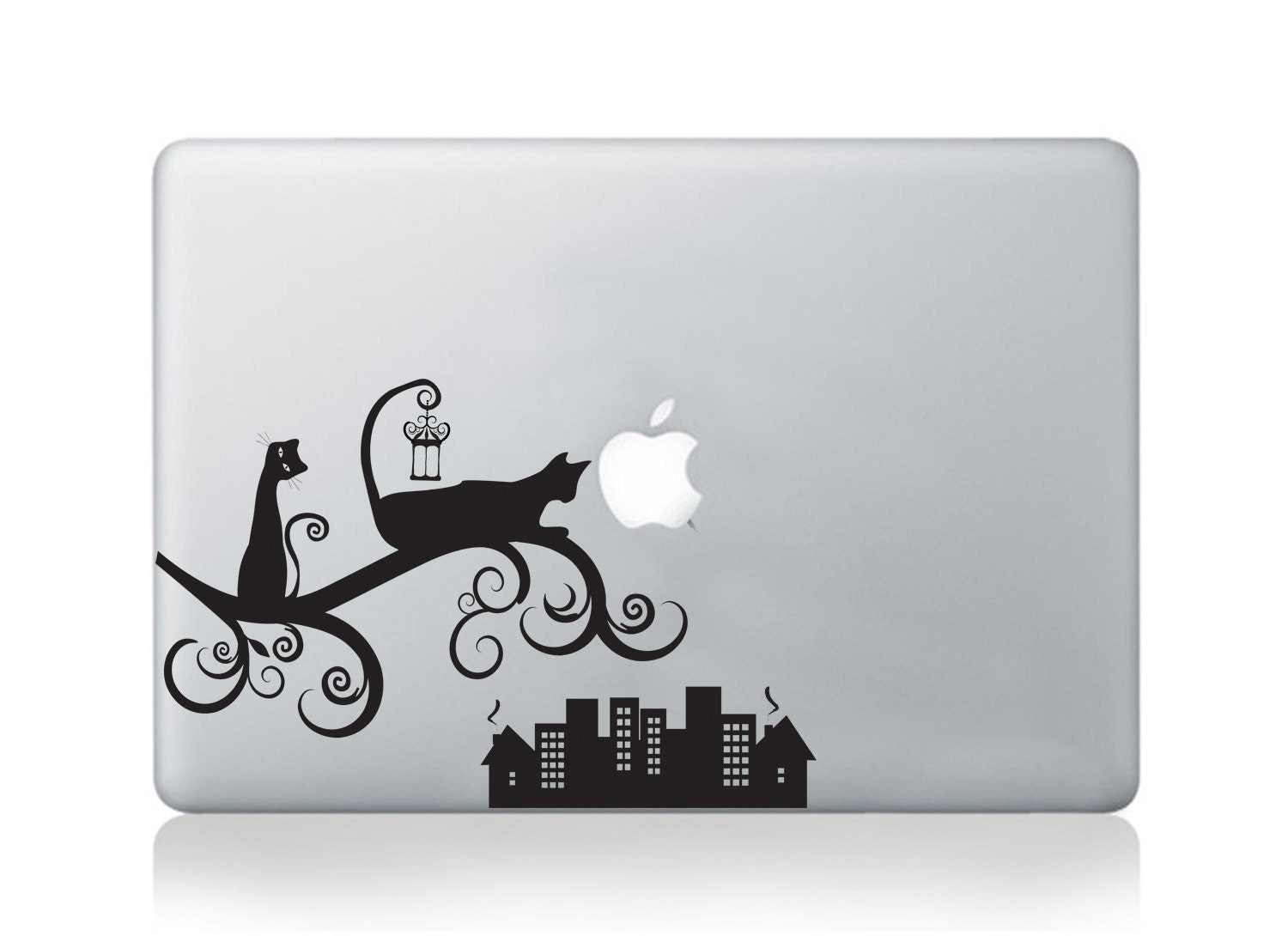 Cat Macbook Sticker Decal for Macbook Pro Air Mac Decal Vinyl Sticker for Laptops Cat Sticker Decal for Laptop