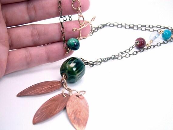 Earth Day Copper Necklace - CreationsInaru