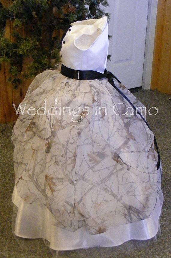 White Camo Flower Girl Dresses 94