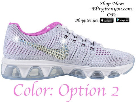 d7ba23a9f8f best Nike Women s Air Max Tailwind 8 Bling by Blingitonyouboutique ...