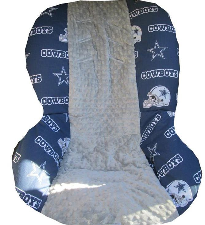 Dallas Cowboys With Minky Grey Car Seat Cover Fits By