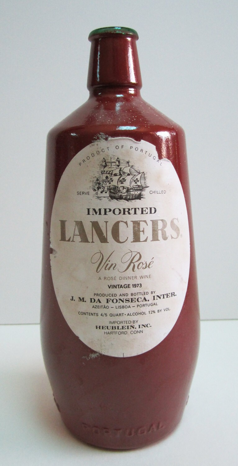 Imported Lancers Vin Rose Vintage Wine by thesteampunkexpress