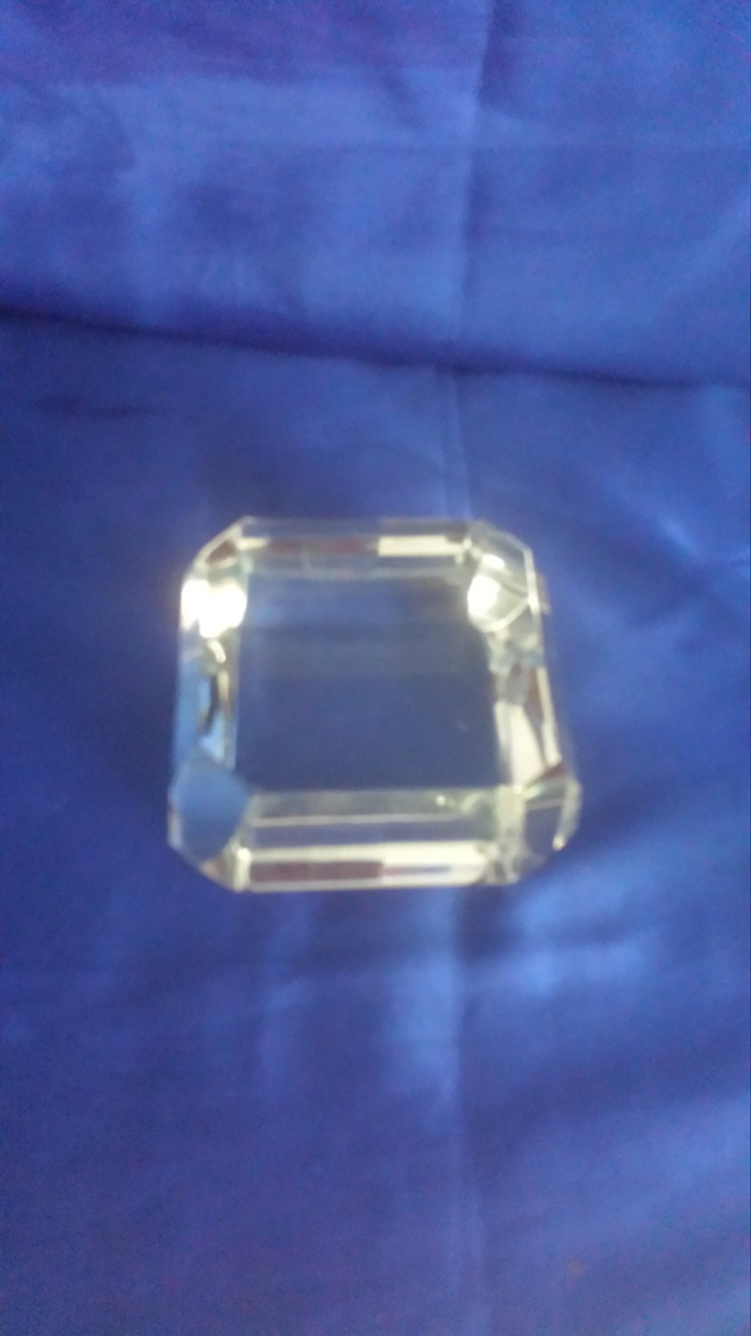 Clear Glass Square Paperweight