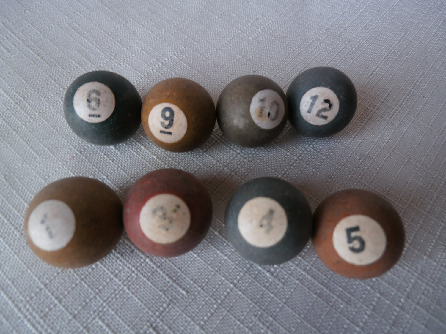 Antique Wooden Marbles Vintage Toy Pool Balls By