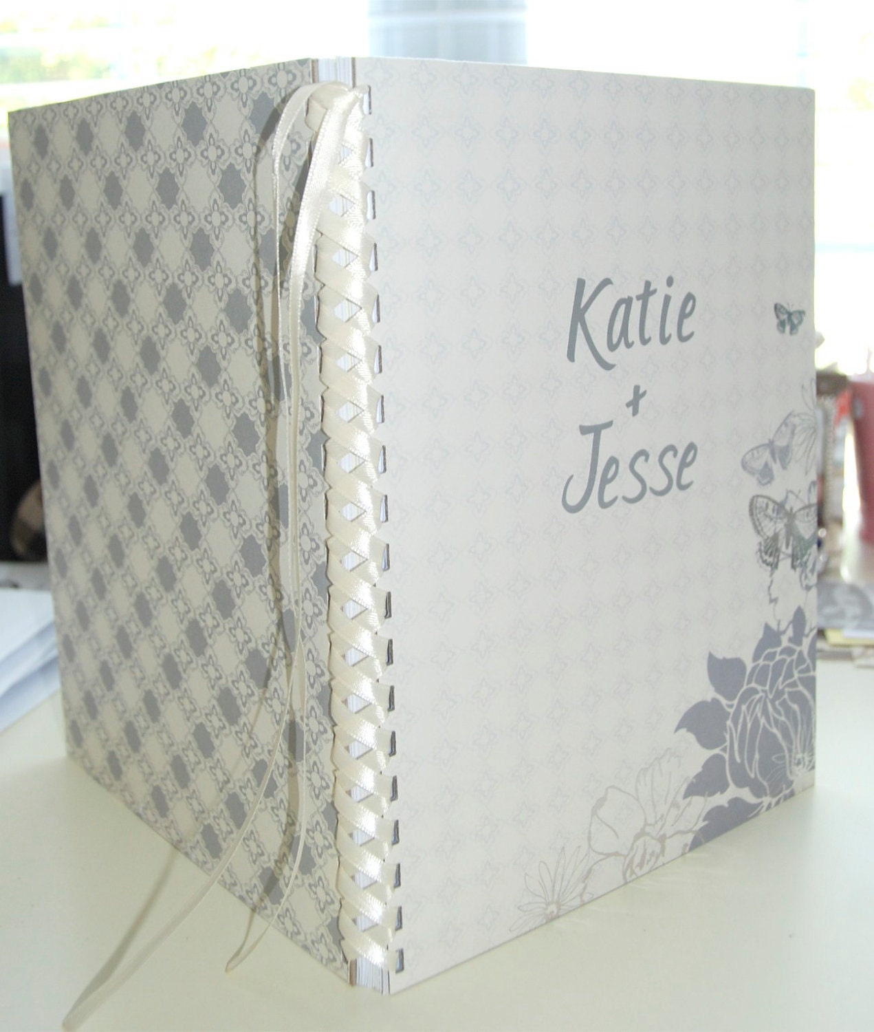 items similar to custom wedding planner or guest book
