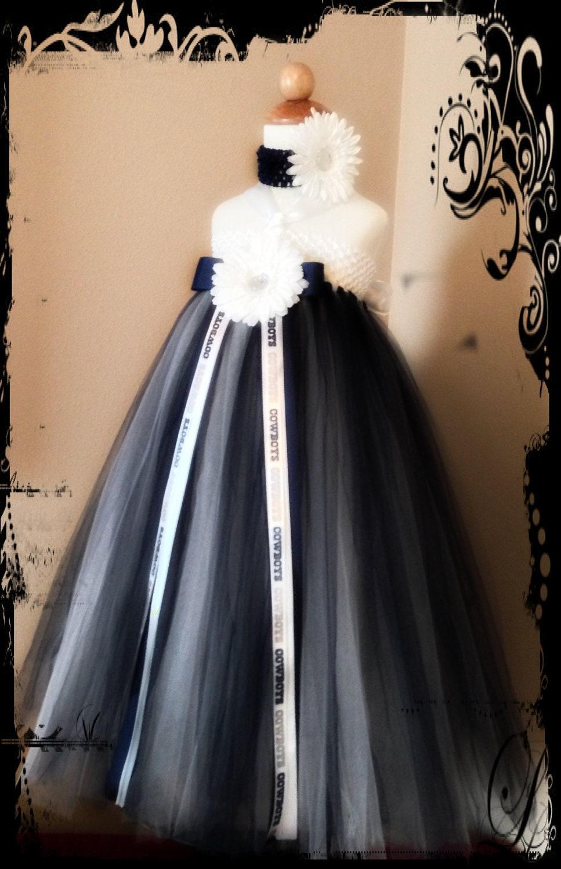 Boutique style dallas cowboys inspired tutu by for Custom wedding dress dallas