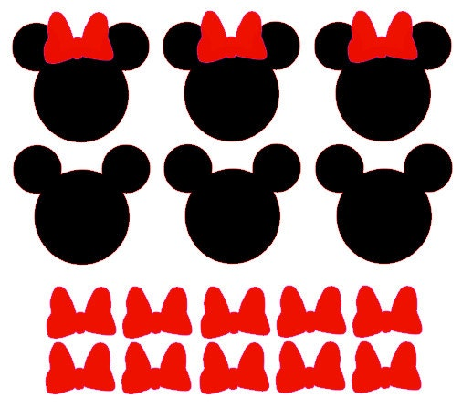 10 Mickey Mouse Amp 10 Minnie Mouse Vinyl Decals By