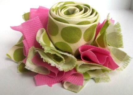 Цветок из ткани PDF Pattern Джульетта La Fleur