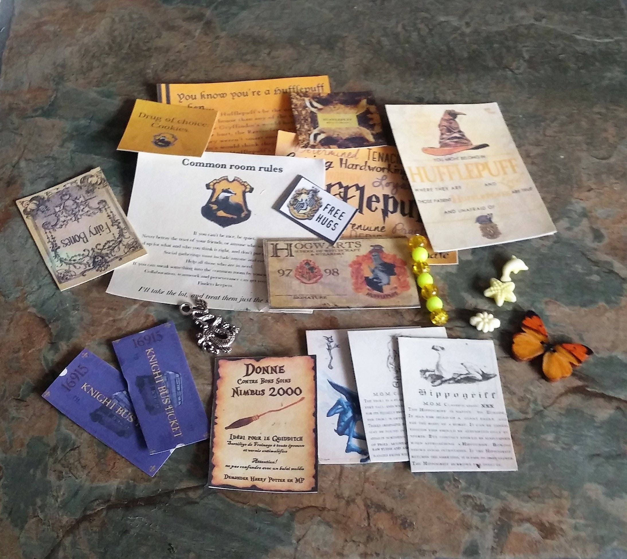 Hufflepuff Cards Vials Magic Wand and other Charms  Accessories content may vary Harry Potter Miniture Harry Potter Dolls House