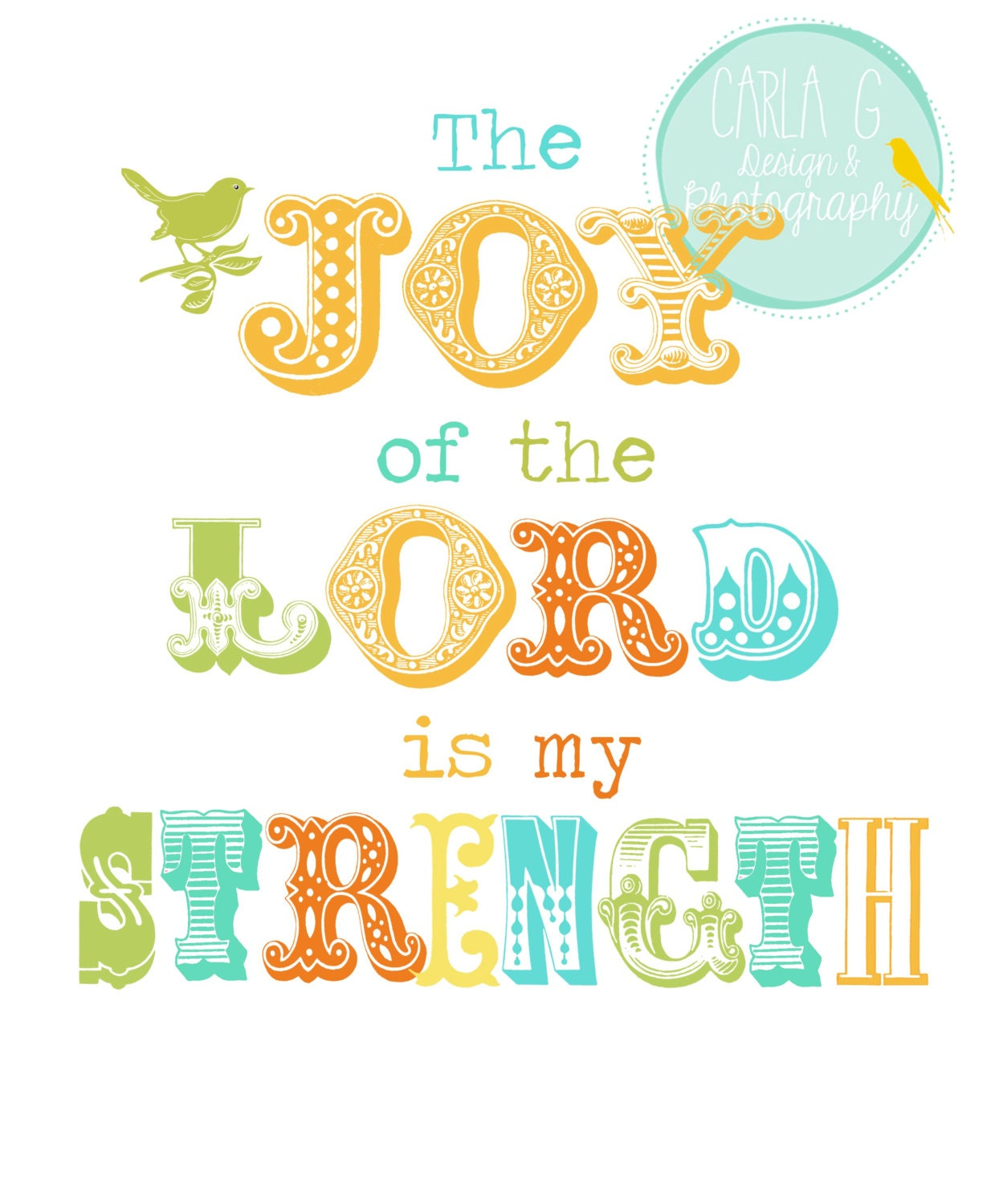Items Similar To The Joy Of The Lord Is My Strength On Etsy