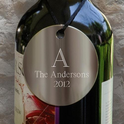 Engraved Wine Bottles For Wedding Gift : Wine Bottle Medalion- Personalized Wedding GiftHouse Warming Gift