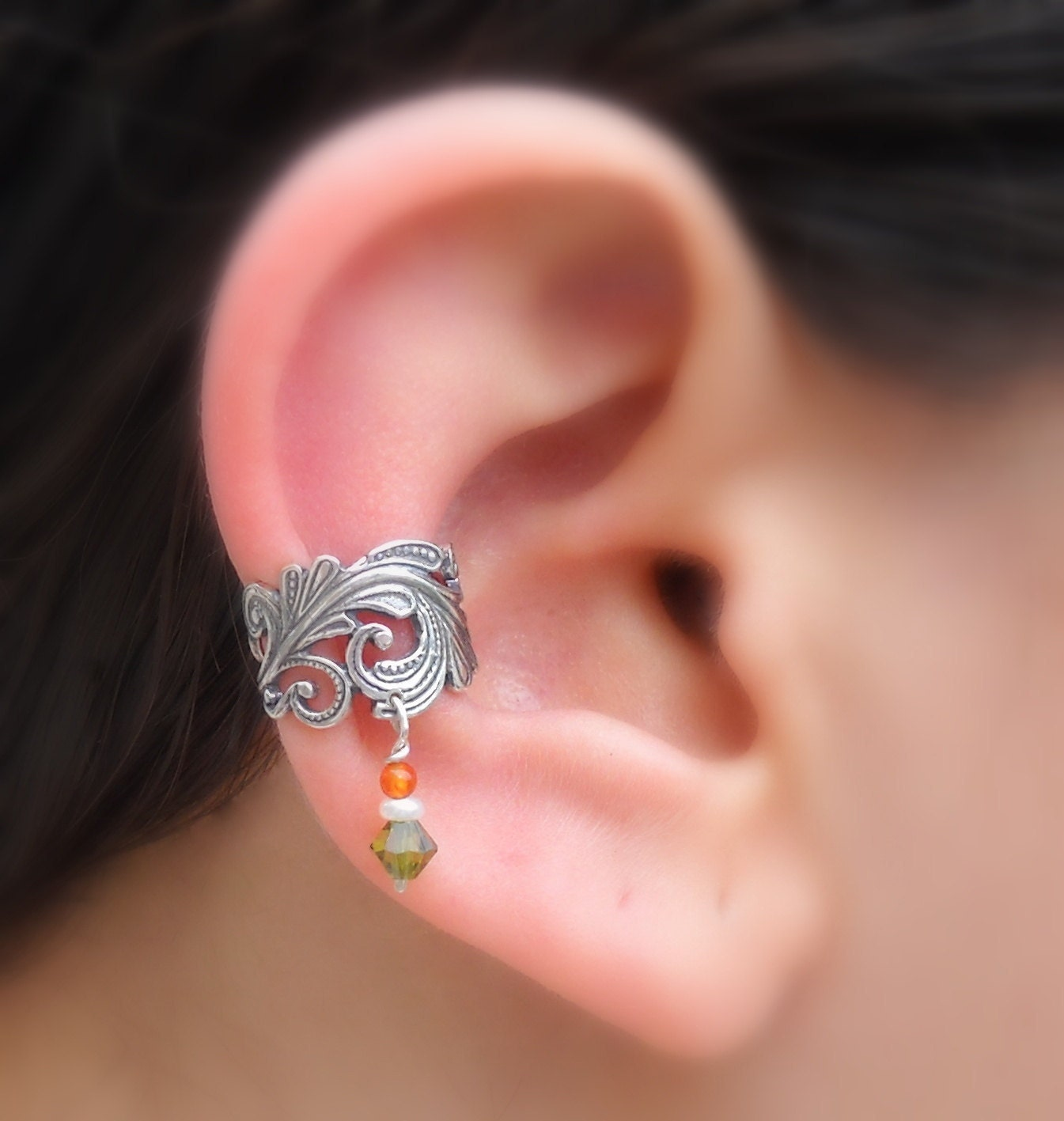 ear cuff sterling silver handcrafted by holylandstreasures. Black Bedroom Furniture Sets. Home Design Ideas