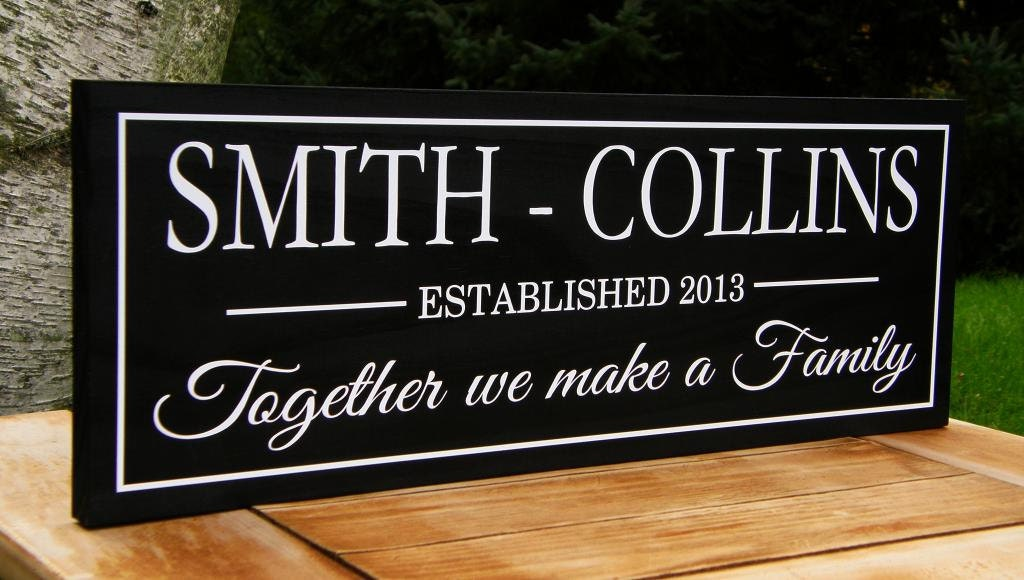 Wedding Gift Ideas Blended Family : Blended Family Wedding Gift Idea Personalized sign Custom Wooden signs ...