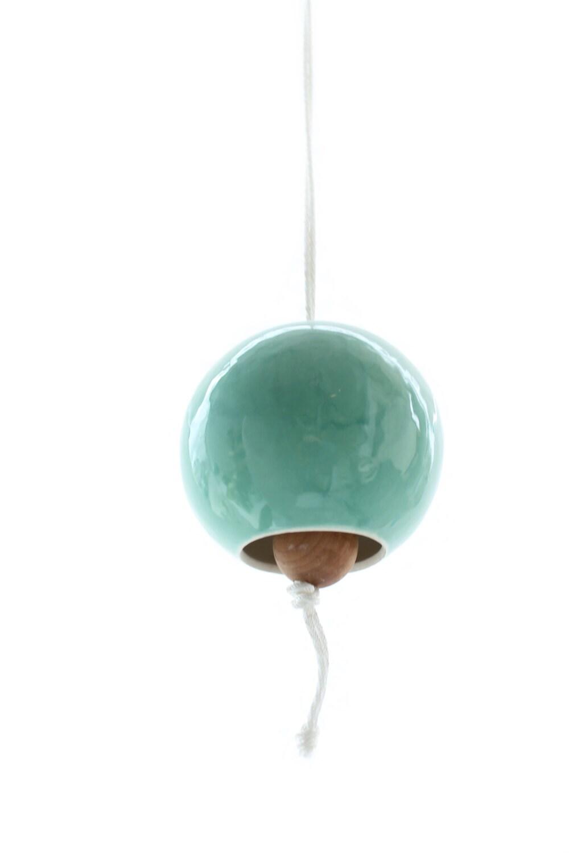 Small Turquoise Porcelain Bell - LandMstudio