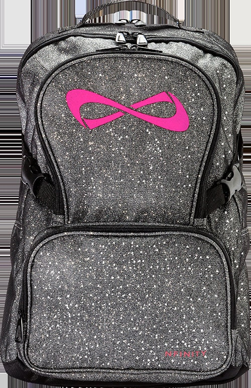 backpack cheerleading category cheergear product born grey logo infinity of sparkle nfinity teal backpacks and bags cheer page archives