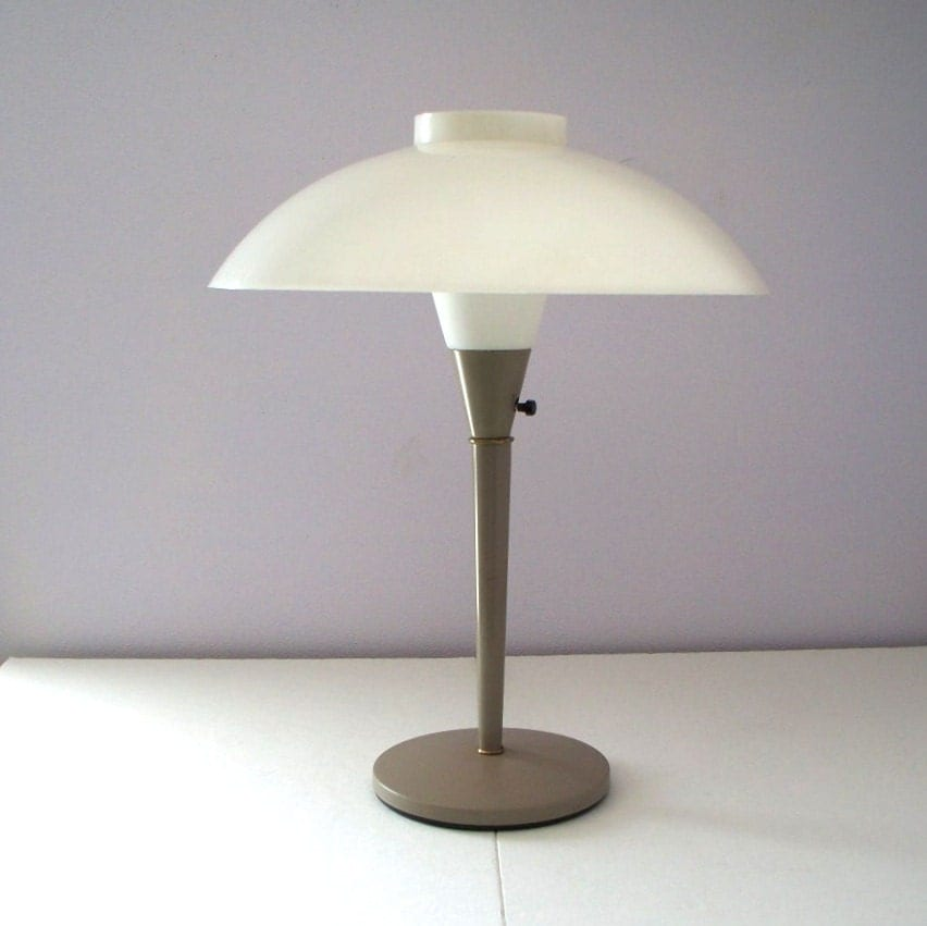 Items Similar To Atomic Mushroom Table Lamp Mid Century