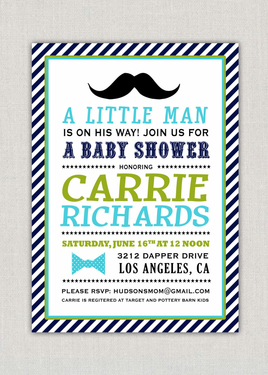 little man baby shower party invitation by announcingyou on etsy