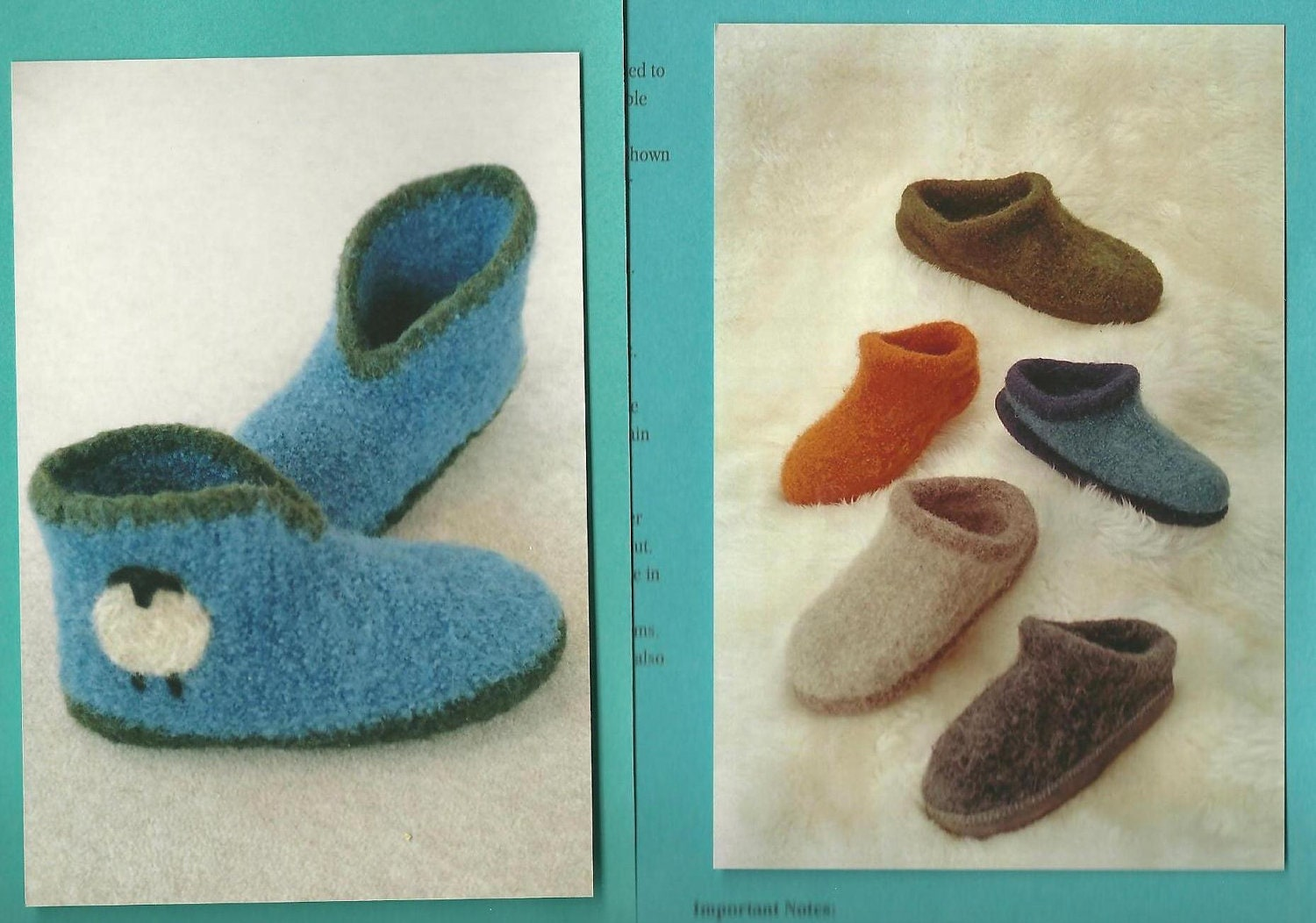 Fiber Trends Felted Wool Slippers and Clogs by SalvagedEnds
