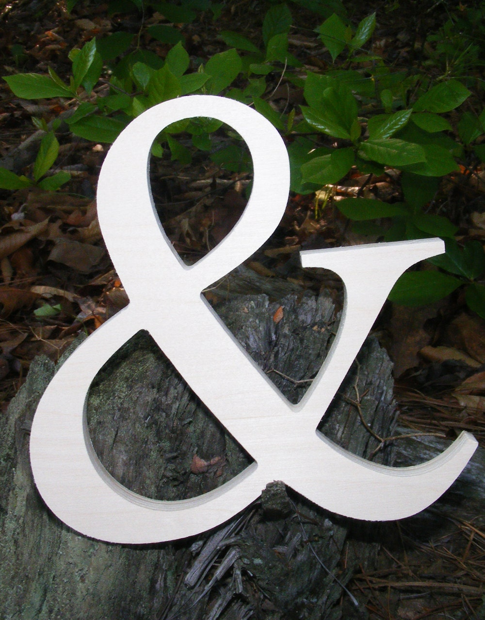 12 wooden ampersand sign unpainted by gallerywoodletters for Ampersand decoration etsy