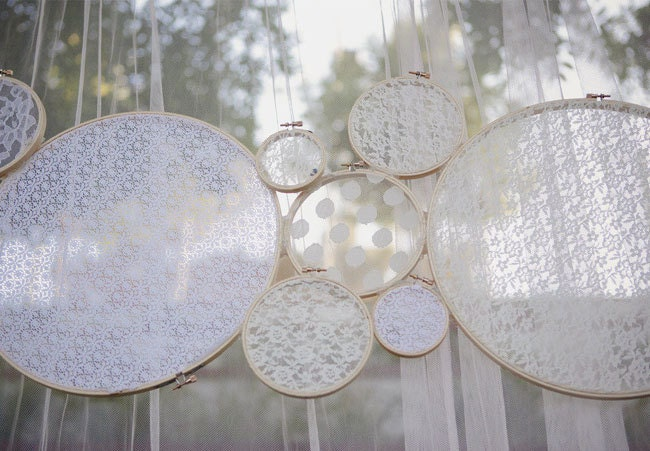 Lace Wedding Decor Ceremony Decoration by thepaperynook on Etsy