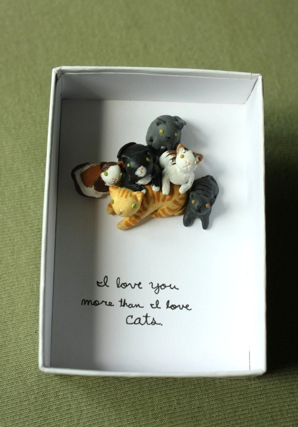 I Love You More Than I Love Cats Valentine Box - TheMadFawn