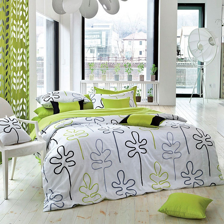 Unavailable listing on etsy for Black and lime green bedroom ideas