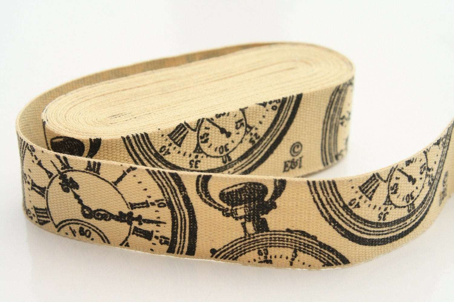 Fob Watch Woven Cotton Ribbon 5m length 20mm Wide