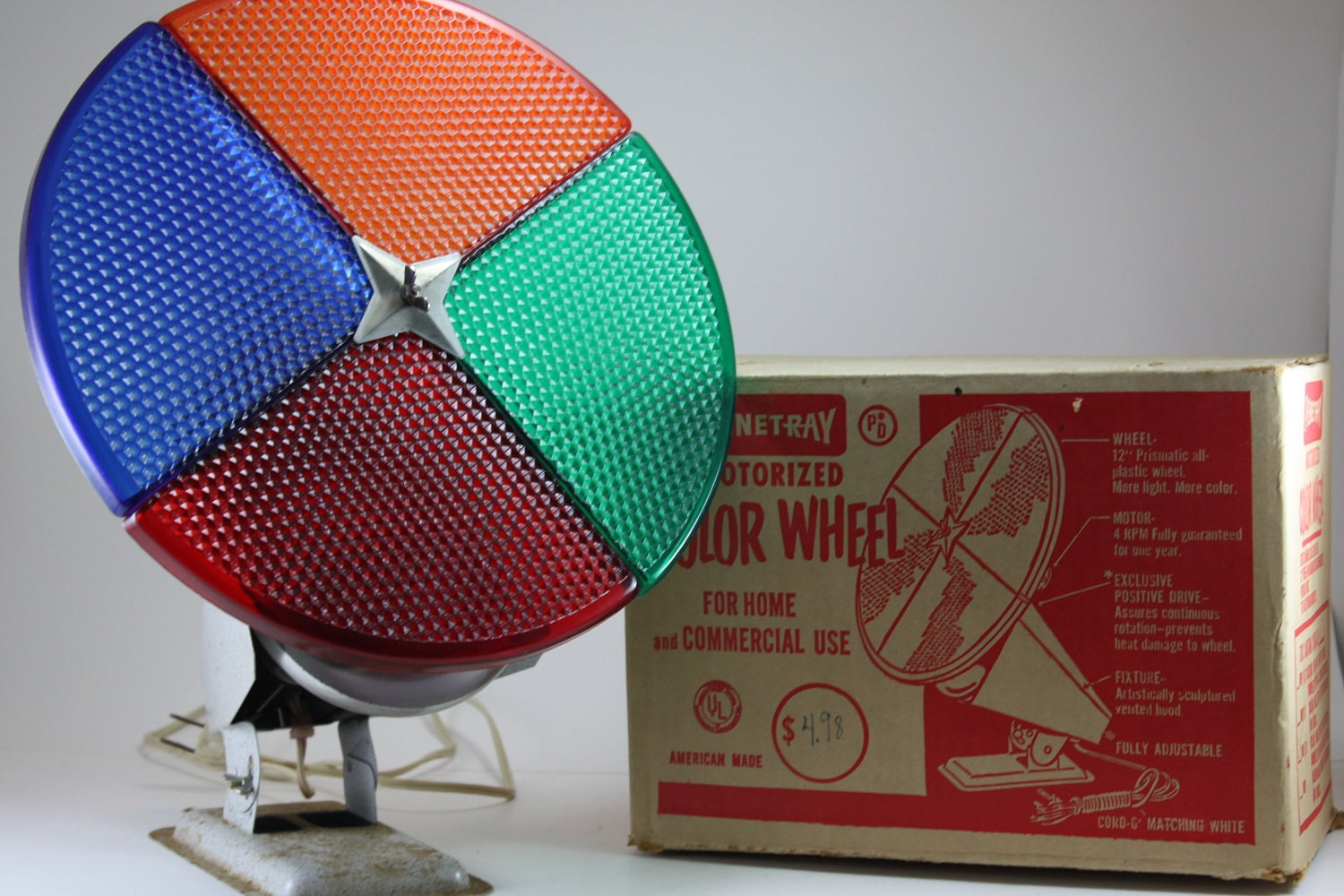 vintage mid century modern aluminum christmas tree by - Rotating Color Wheel For Christmas Tree