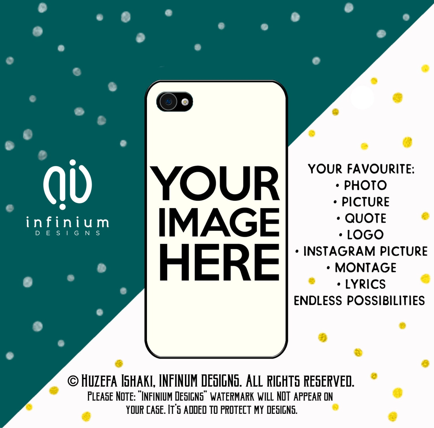 Custom Case Personalized Case For iPhone 6S iPhone SE iPhone 5 iPod Touch 6 iPhone 6 PLus iPhone 6 iPhone 5S  iPhone 5C Case